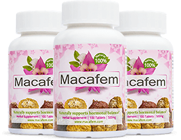 Macafem Bottles; 100 tablets each.